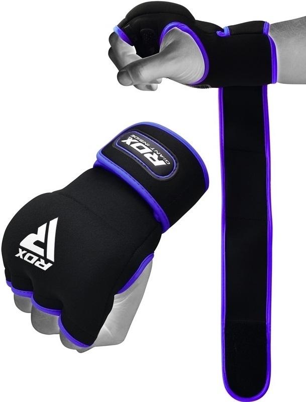 Капы и бинты Быстрые бинты RDX Grappling Glove Neoprene X8 Blue 1.jpg