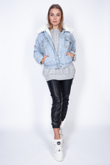 Джинсовая куртка с подстежкой из искусственного меха купить