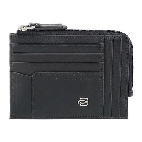 Чехол для кредитных карт Piquadro W82 PU1243W82R/N черный натур.кожа