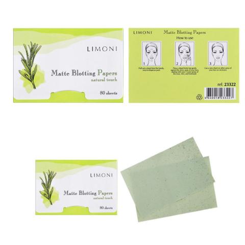 LIMONI Матирующие салфетки для лица, 80 шт