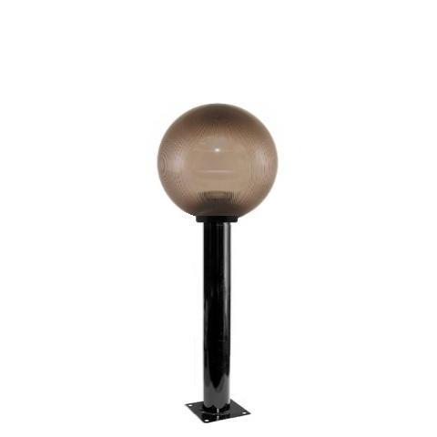 Садово-парковый светильник шар дымчатый призма D250mm с металлической опорой H600mm