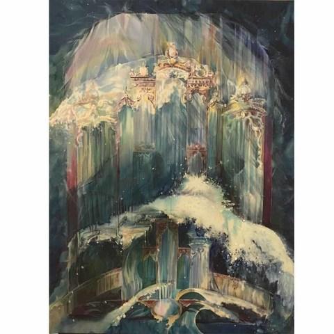 Картина батик Музыка морских глубин
