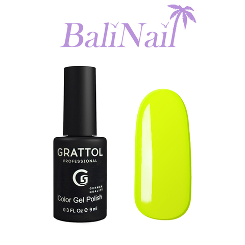 Grattol Color Gel Polish Lemon - гель-лак 036, 9 мл