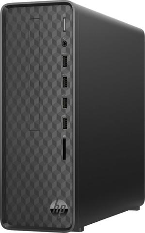 ПК HP Slimline S01-aF0004ur Ath 3050U (2.3)/4Gb/SSD256Gb/RGr/Windows 10/GbitEth/WiFi/BT/65W/черный
