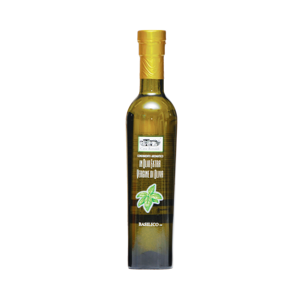 Масло Casa Rinaldi оливковое нефильтрованное Extra Vergine с базиликом 250 мл