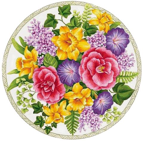 Печать на сахарной бумаге, Цветы 10