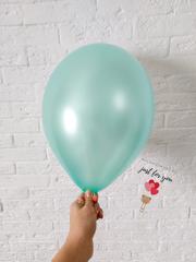 Воздушный шар мятный металлик