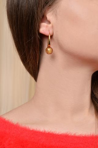 Серьги Ornella Rubino Gold 456O красно-золотые