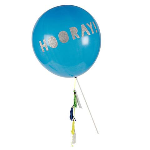 Шары воздушные на палочках синие
