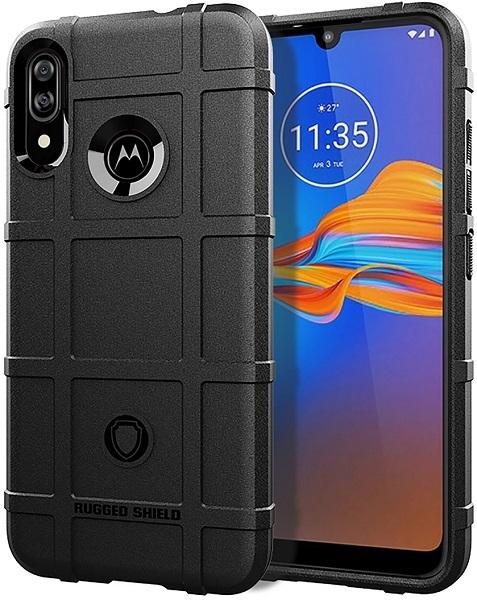 Чехол для Motorola Moto E6S (E6 Plus) цвет Black (черный), серия Armor от Caseport