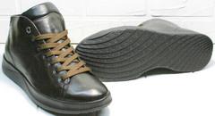 Модные мужские осенние ботинки кеды с толстой подошвой Ikoc 1770-5 B-Brown.