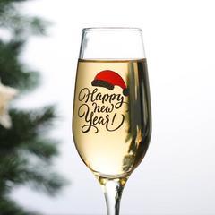 Бокал для шампанского «Happy New Year», 190 мл, фото 2