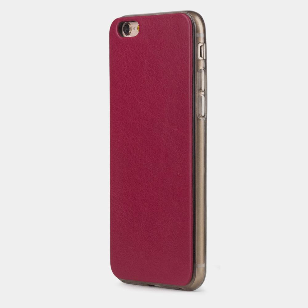 Чехол-накладка для iPhone 6/6S из натуральной кожи теленка, цвета малины