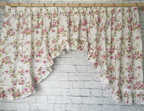Готовая штора Абигейл розовый