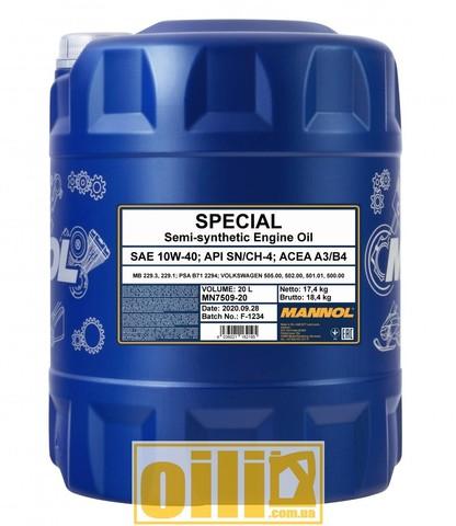 Mannol 7509 SPECIAL 10W-40 20л
