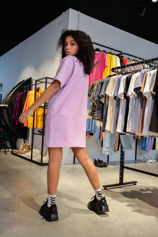Платье прямое из хлопка купить