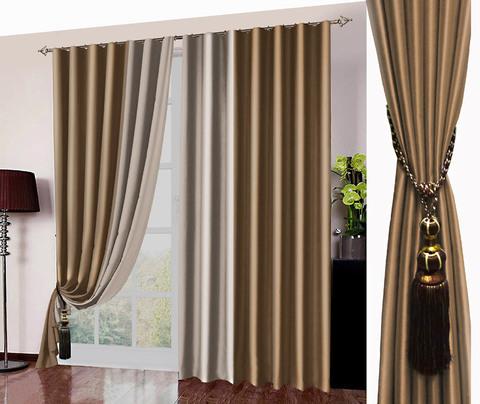 Комплект штор блэкаут Фелиция золотисто-коричневый