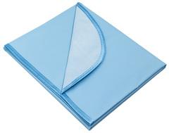 Колорит. Клеенка ПВХ в кроватку 70х100 см на резинке с окантовкой, цветная голубой вид 1