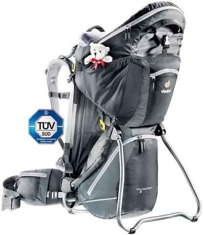Картинка рюкзак-переноска Deuter Kid Comfort III Black-Granite - 1