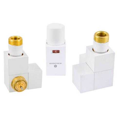 Комплект термостатический Форма осевая Белый. Для стали GZ 1/2 x GW 1/2