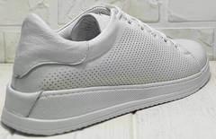 Кожаные кроссовки женские белые кеды Evromoda 141-1511 White Leather.