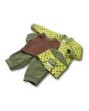 Костюм с курткой бомбером - Зеленый. Одежда для кукол, пупсов и мягких игрушек.