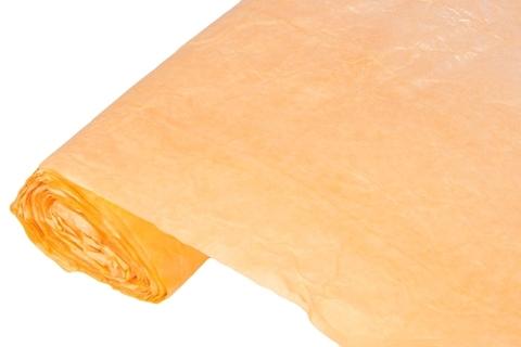 Бумага жатая эколюкс 70см х 5м оранжевая/серебро 11S
