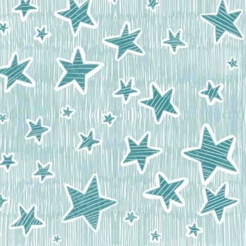 Звёзды цвета морской волны