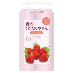 Туалетная бумага Fujieda Seishi двухслойная с ароматом клубники 27,5 м 12 рулонов