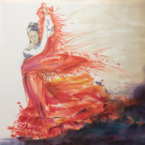 Картина батик Испанка