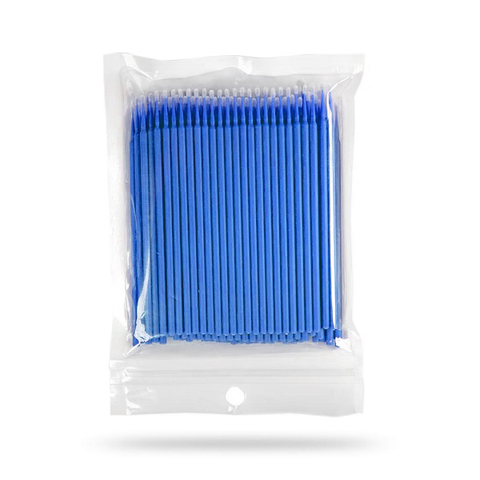 Микробраши для ресниц, цвет синий, 100шт в пакете