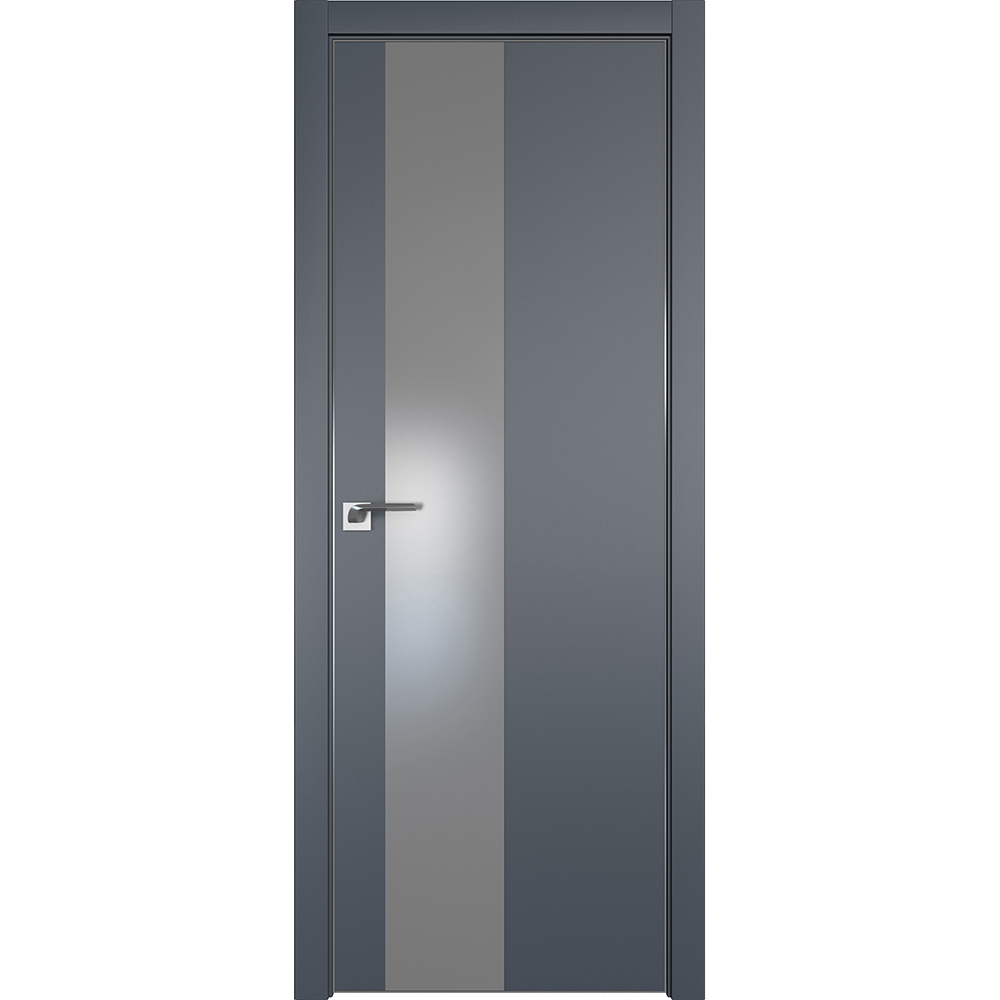 Межкомнатные двери Межкомнатная дверь экошпон Profil Doors 5E антрацит с серебряным стеклом алюминиевая матовая кромка с 4-х сторон 5E_Antratsit_serebro_matlak_CHROME_MAT.jpg