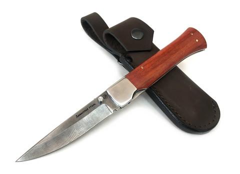 Нож складной Лиса-1, дамасская сталь, ИП Фурсач