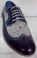 Туфли мужские Luciano Bellini 12314 оксфорды летние синие