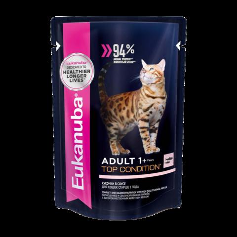 Eukanuba Adult Top Condition Salmon Консервы для взрослых кошек с лососем
