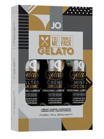 Подарочный набор вкусовых лубрикантов Tri-Me Triple Pack Gelato