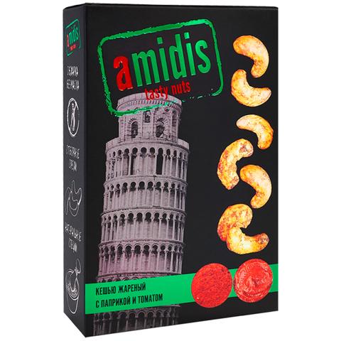 Amidis Кешью жаренный  с паприкой и томатом, 80 г