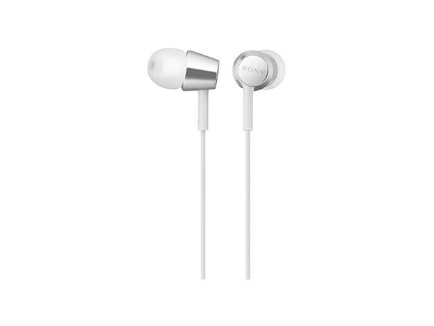 MDR-EX155AP W наушники Sony с микрофоном, цвет белый