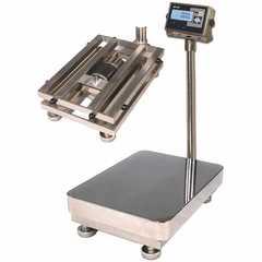 Весы товарные напольные MAS ProMAS PM1HWS-300 6080, RS232 (опция), 300кг, 50/100гр, 600*800, защита IP65, нержавеющая сталь AISI 304, с поверкой, съемная стойка