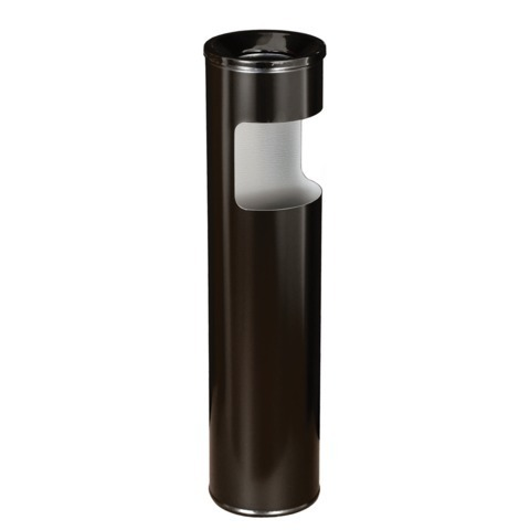 Урна металлическая с пепельницей, 600х150 мм, 10 литров, черная, К150
