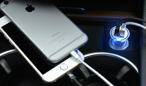 Купить автомобильное зарядное устройство Hoco UC204 в Перми