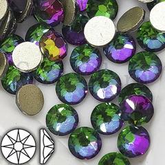 Купить оптом клеевые стразы Xirius Peacock зелено-фиолетовые