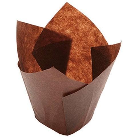 Форма-тюльпан коричневая, 20шт