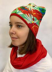 Детская шапочка бини с принтом Маки