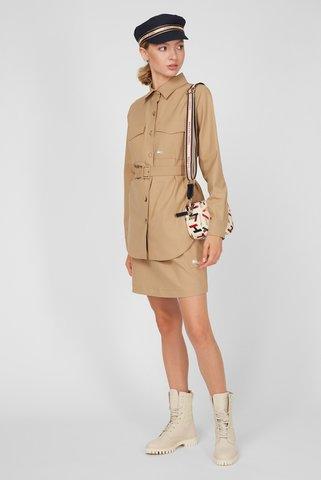 Женское бежевое пальто-рубашка ICON SOFT WOOL Tommy Hilfiger