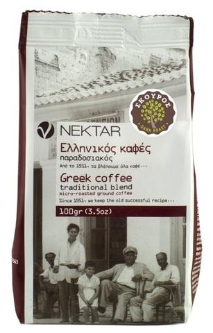 Греческий кофе сильной обжарки Nectar 100 гр.
