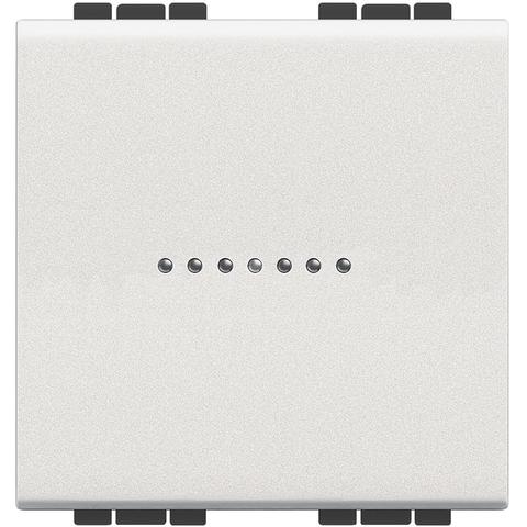 Выключатель Axial, 16 А 250 В~ 2 модуля. Цвет Белый. Bticino Livinglight. N4051M2AN