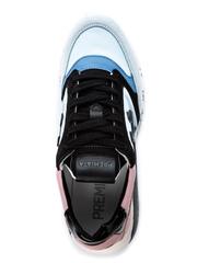 Комбинированные кроссовки Premiata Zac-Zac 4547 на шнуровке