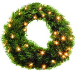 TRIUMPH TREE хвойный круг Лесная красавица зеленый (лампы) 90см
