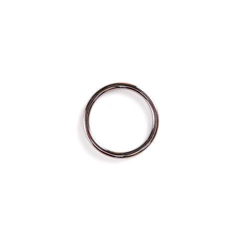 Кольцо черный никель 26 мм (металл)
